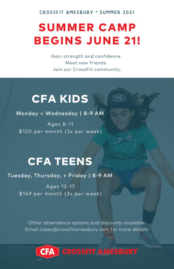CFA Summer Camp begins June 21