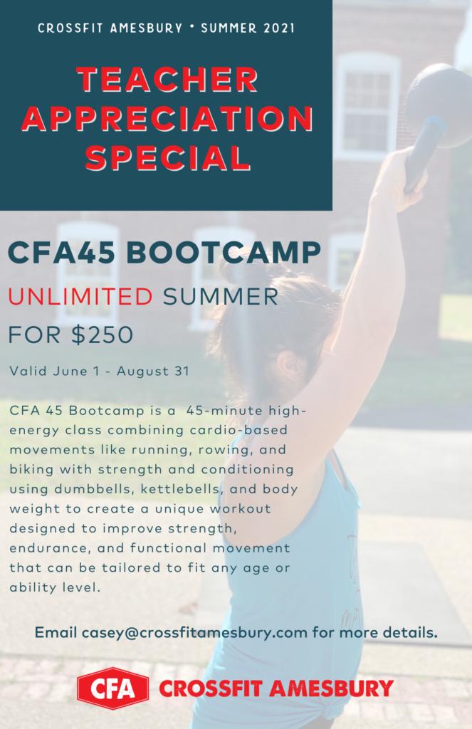 Teacher Appreciation Special - Unlimited CFA45 for $250